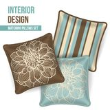 Set of decorative pillow Stock Photo