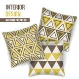 Set of decorative pillow Royalty Free Stock Photos