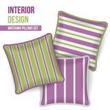 Set of decorative pillow Stock Photo