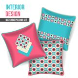 Set of decorative pillow Stock Photography