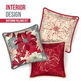 Set of decorative pillow Stock Images