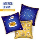 Set of decorative pillow Stock Photos