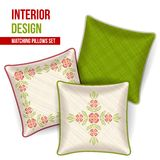 Set of decorative pillow Stock Image