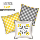 Set of decorative pillow Stock Photos