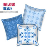 Set of decorative pillow Stock Images
