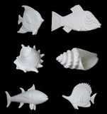 Set of decorative plaster products. Royalty Free Stock Images