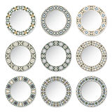 Set of decorative plates Royalty Free Stock Photos