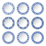 Set of decorative plates Royalty Free Stock Photo