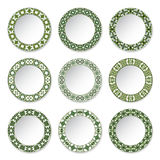Set of decorative plates Stock Photo