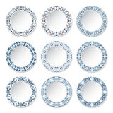Set of decorative plates Stock Photos