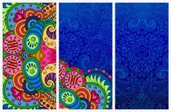 Set of decorative postcards. Stock Images