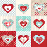Set of decorative red hearts, illustration Royalty Free Stock Photography