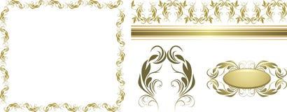 Set of decorative retro elements for design Royalty Free Stock Photo