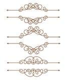 Set decorative retro frames .Vector illustration. Brown. Stock Images