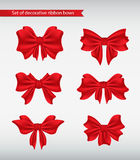 Set of decorative ribbon bows  illustration Stock Photo