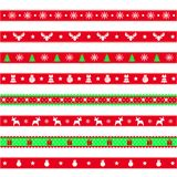 Set of decorative ribbons with snowflakes, symbol of the new year and christmas, vector illustration vector illustration