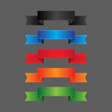 Set of decorative ribbons. Vector illustration stock illustration
