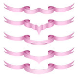 Set of decorative ribbons Stock Images