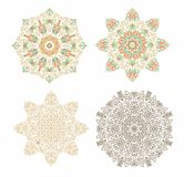 Set of  decorative rosettes in arabic style Stock Photos