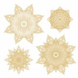 Set of  decorative rosettes-snowflakes in arabic style Royalty Free Stock Image