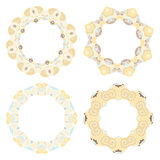 Set of decorative round frames Royalty Free Stock Photos