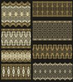 Set of decorative seamless laced patterns Stock Photos