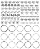 Set of decorative seamless ornamental border with corner royalty free illustration