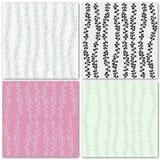 Set of 4 decorative seamless patterns Stock Image