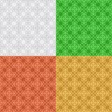 Set - vector decorative seamless patterns Stock Photography
