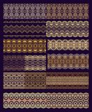 Set of decorative seamless ribbons Royalty Free Stock Photography