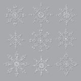 Set of decorative snowflakes. Royalty Free Stock Images