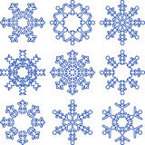 Set of decorative Snowflakes. Stock Photo