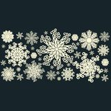 Set of decorative snowflakes-rosettes for christma Royalty Free Stock Photography