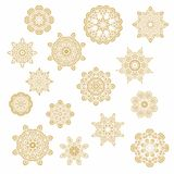Set of decorative snowflakes-rosettes Stock Image