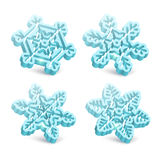 Set of decorative snowflakes Royalty Free Stock Photos