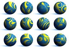 Set of decorative spheres Royalty Free Stock Images