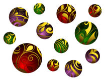 Set of decorative spheres Royalty Free Stock Image