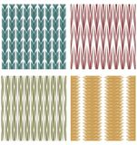 Set of decorative tiles with strip ornamental patterns Stock Image