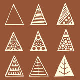 Set of decorative triangles. Stock Image