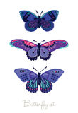 Set of decorative vector butterflies Royalty Free Stock Photography