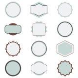 Set of decorative vector frames stock image