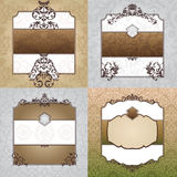 Set of decorative vintage frames Royalty Free Stock Image