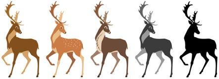 Deer set stock illustration