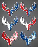 Set of deer emblems Stock Photos
