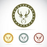 Set of  deer label Stock Photo