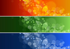 Set of Defocused Lights Banner Royalty Free Stock Photography