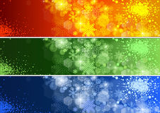Set of Defocused Xmas Banner Royalty Free Stock Images