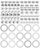 Set dekoracyjna bezszwowa ornamentacyjna granica z kątem royalty ilustracja