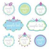 Set dekoracyjne ramy Fotografia Royalty Free