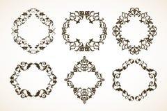 Set dekoracyjne wzorzystość ramy royalty ilustracja